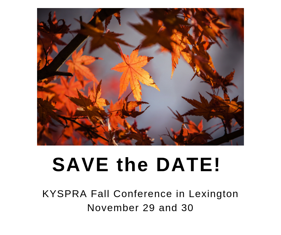 Image adverstising the KYSPRA fall conference 2018
